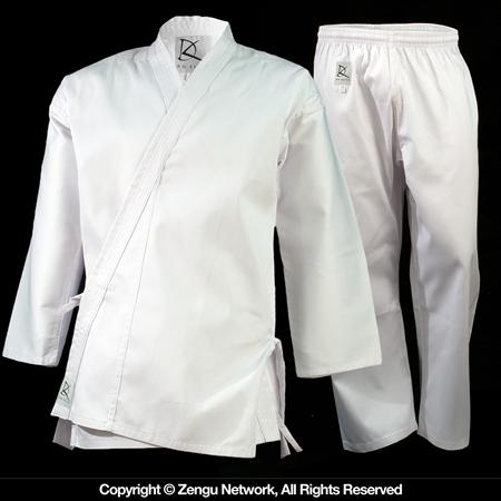 85 oz White Middleweight Karate Uniform